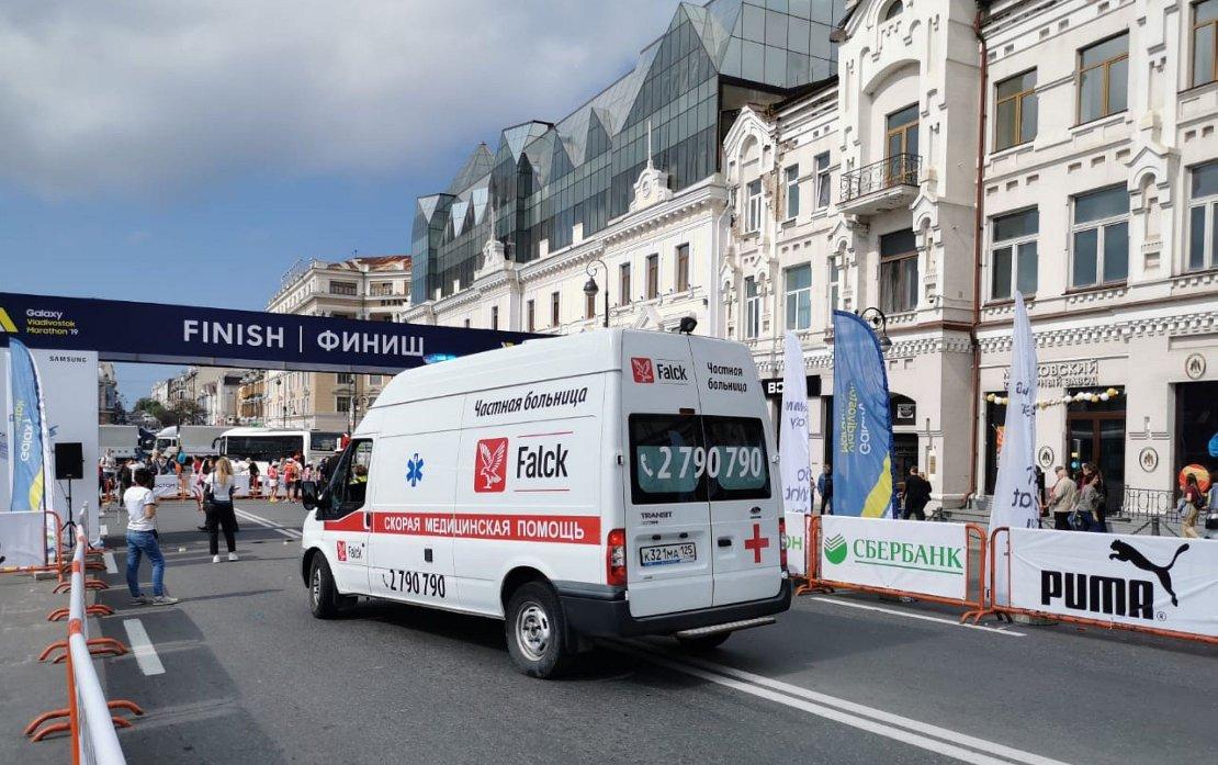 Нам доверяют здоровье бегунов на Galaxy Vladivostok Marathon 2019